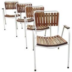Danish Daneline Garden Chairs in Teak Set of 4