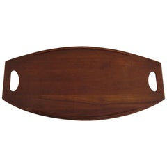 Danish Dansk Design Denmark Large Teak Tray by Jens Quistgaard, 1950s