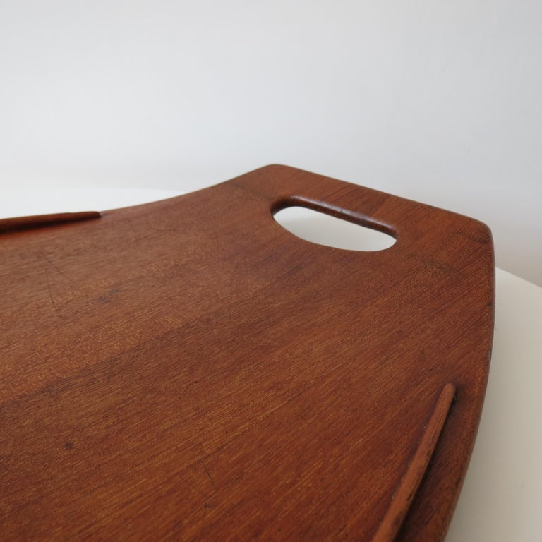 20th Century Danish Dansk Design Denmark Teak Tray by Jens Quistgaard, 1950s