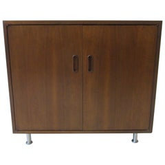Danish Dark Walnut Smaller Cabinet / Credenza by Poul Cadovius