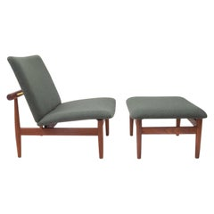 Danish Design Classic Finn Juhl Lounge Chair and Ottoman, Japan Series, 1960s