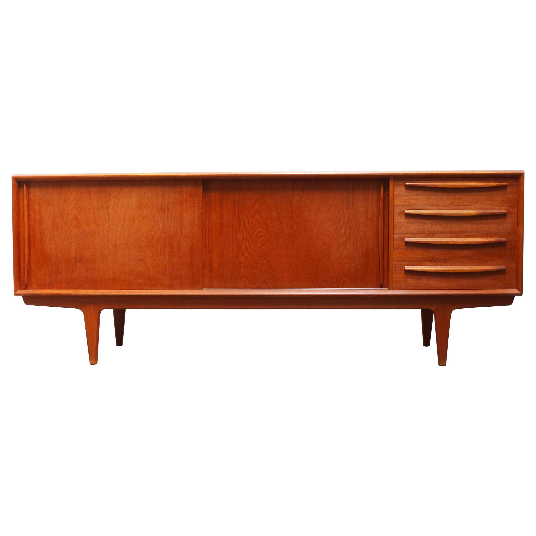 Danish Design Credenza / Sideboard by Bernhard Pedersen in Teak 1950 Brown Beige