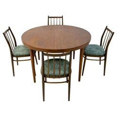 Danish Design Dining Set of Rosewood Table and Four Chairs