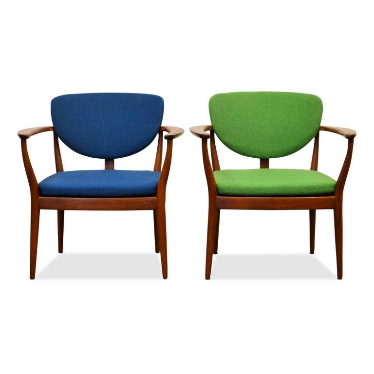 Danish Design Finn Juhl Style Teak Lounge Chair For Sale 5