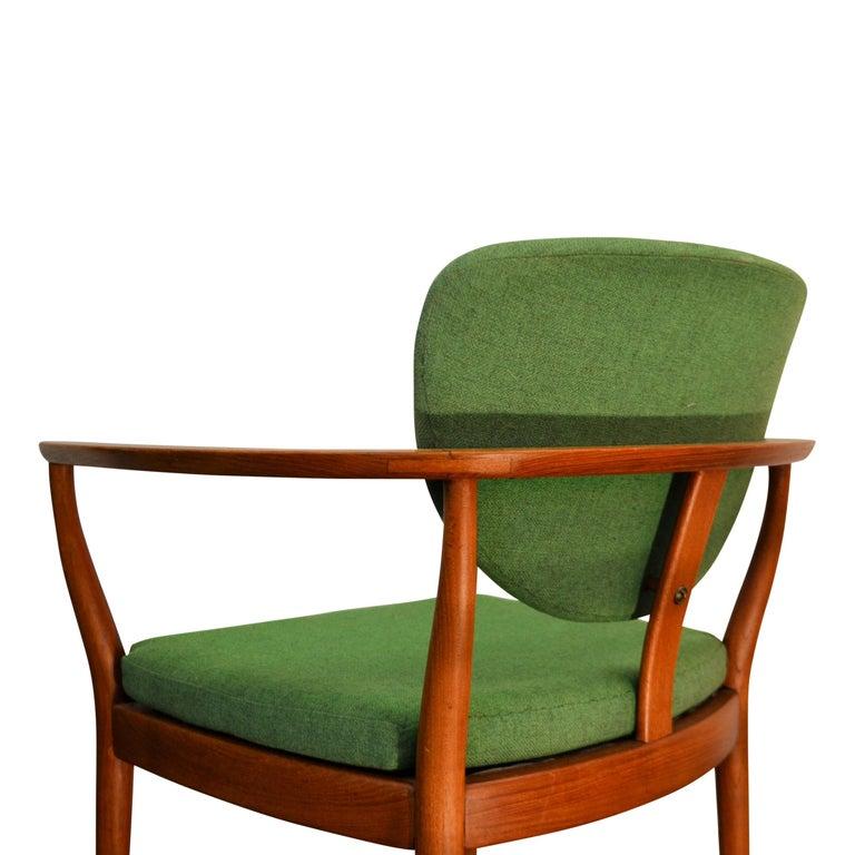 Mid-Century Modern Danish Design Finn Juhl Style Teak Lounge Chair For Sale