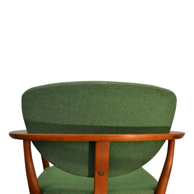 Danish Design Finn Juhl Style Teak Lounge Chair In Good Condition For Sale In Panningen, NL