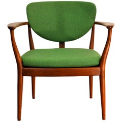 Danish Design Finn Juhl Style Teak Lounge Chair