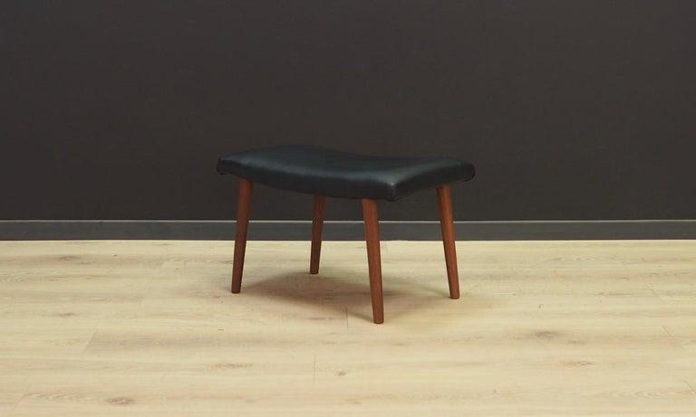Mid-Century Modern Danish Design Footrest Vintage Retro For Sale