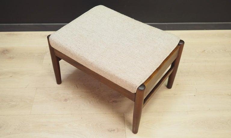 Woodwork Danish Design Footrest Vintage Retro For Sale