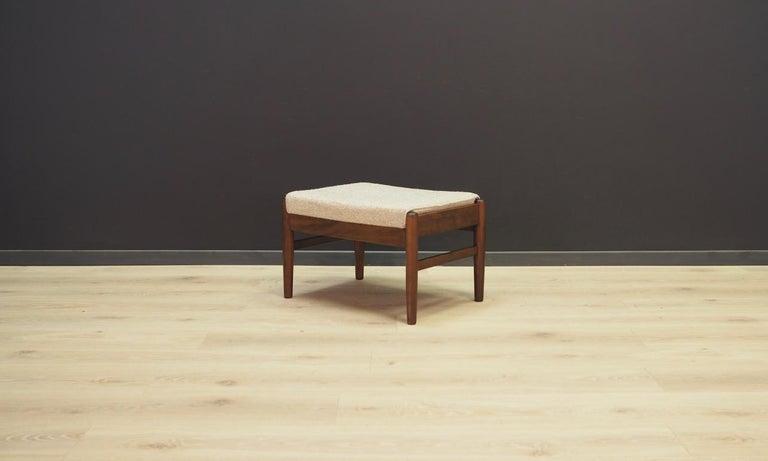 Late 20th Century Danish Design Footrest Vintage Retro For Sale