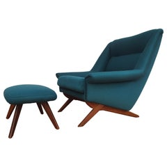 Danish Design, Illum Wikkelsø, Armchair, 1970s, Completely Renovated