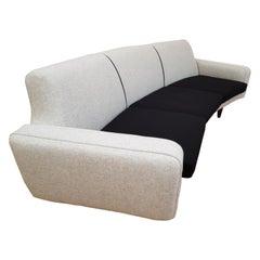"""Danish Design, Illum Wikkelsø, """"Banana"""" Sofa, Model 450, Completely Restored"""