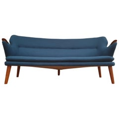 "Danish Design, Kurt Olsen ""Banana"" Sofa Model 220, Completely Renovated"