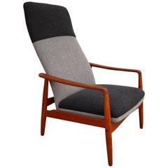 Danish Design, Lounge Chair by Søren J. Ladefoged & Søn, Wool, Teak, Restored