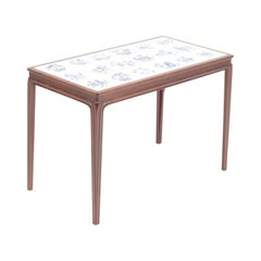Danish Design Low Table in Mahogany and Tiles by Cabinetmaker Frits Henningsen