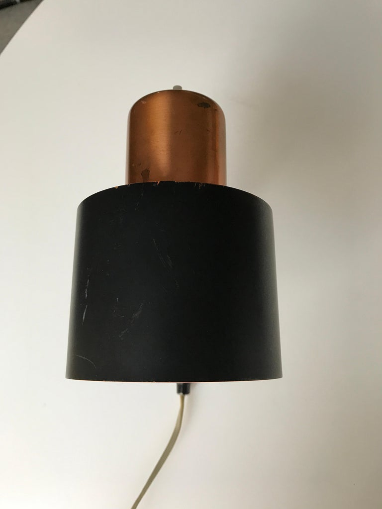 Danish Design Midcentury Wall Light by Jo Hammerborg For Sale 1