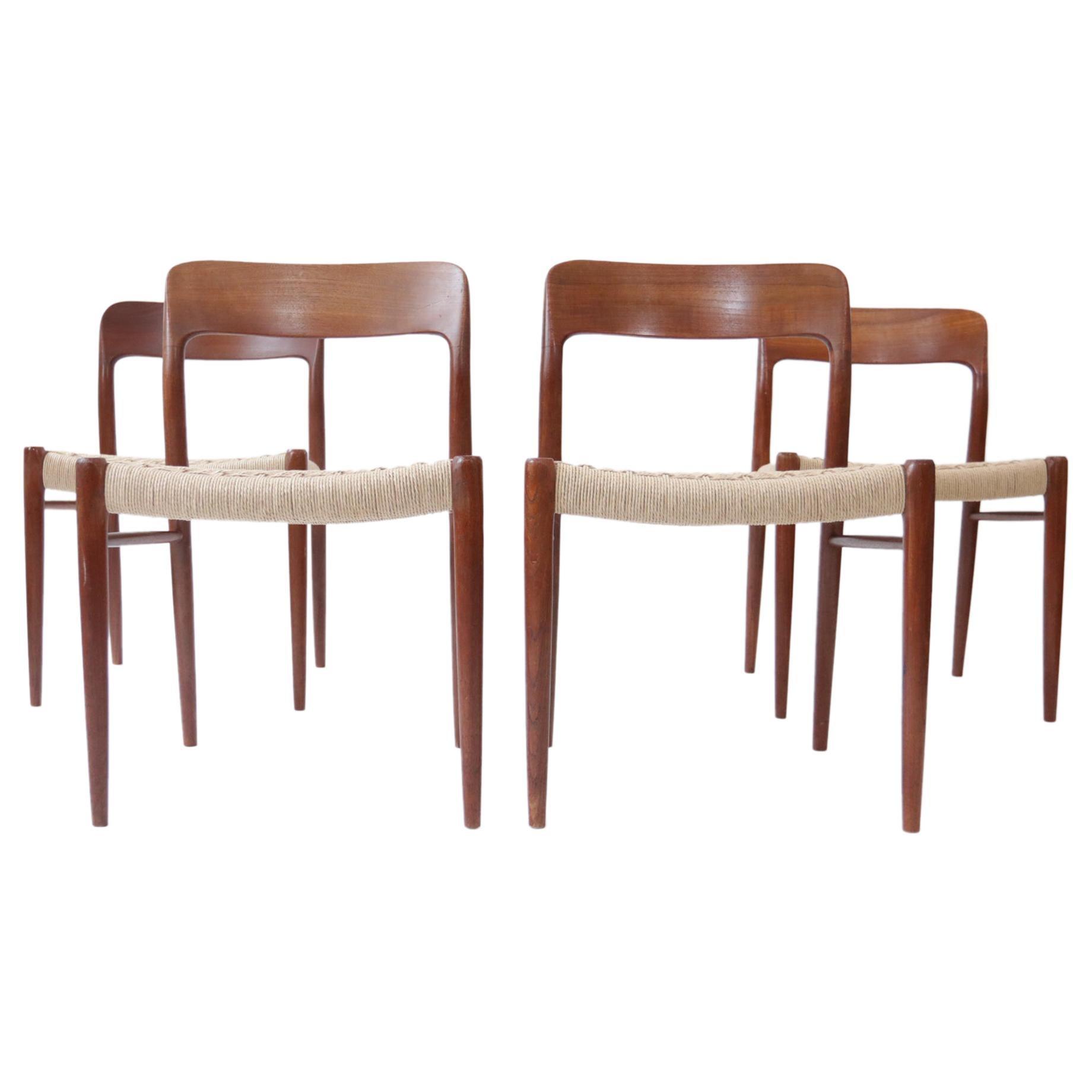 Danish Design Niels Otto Moller Model 75 Dining Chairs JL Moller Møbelfabrik