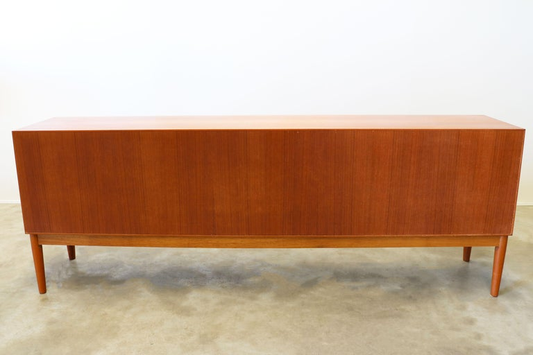 Danish Design Sideboard / Credenza by H.W. Klein for Bramin Teak Brown 1950s For Sale 6