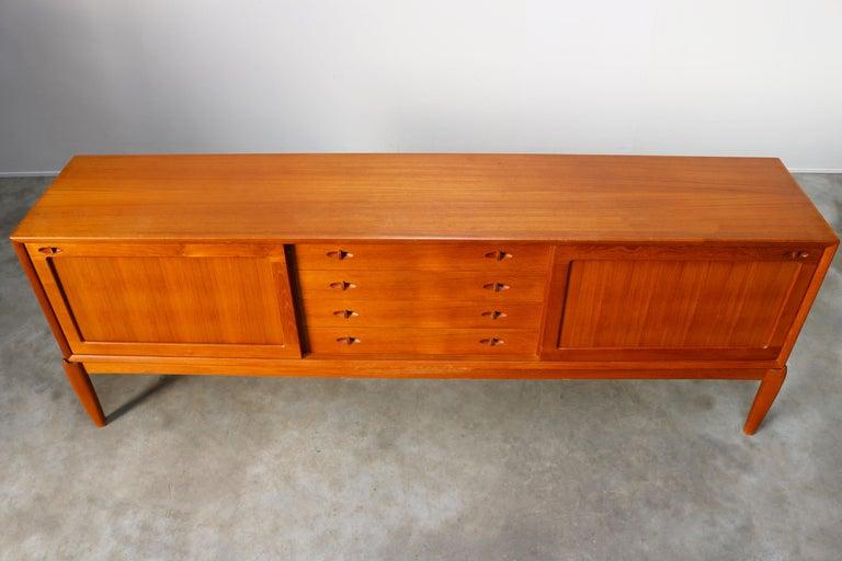 Danish Design Sideboard / Credenza by H.W. Klein for Bramin Teak Brown, 1950s For Sale 6