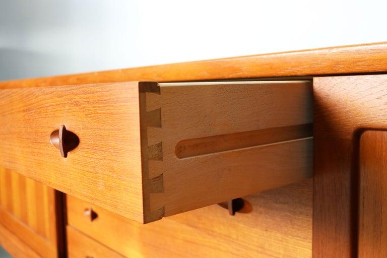Danish Design Sideboard / Credenza by H.W. Klein for Bramin Teak Brown, 1950s For Sale 9