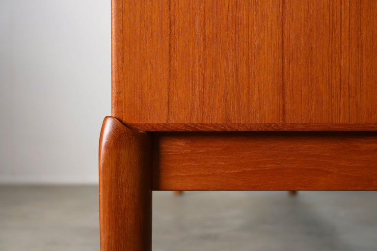 Danish Design Sideboard / Credenza by H.W. Klein for Bramin Teak Brown, 1950s For Sale 11