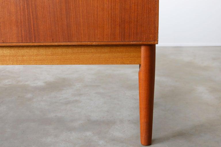 Danish Design Sideboard / Credenza by H.W. Klein for Bramin Teak Brown, 1950s For Sale 14