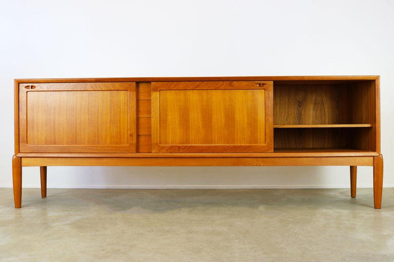 Mid-Century Modern Danish Design Sideboard / Credenza by H.W. Klein for Bramin Teak Brown 1950s For Sale