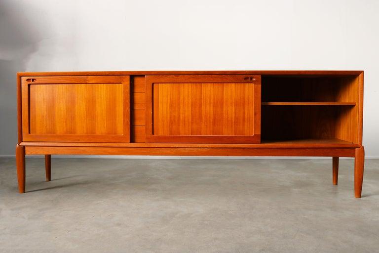 Danish Design Sideboard / Credenza by H.W. Klein for Bramin Teak Brown, 1950s For Sale 1