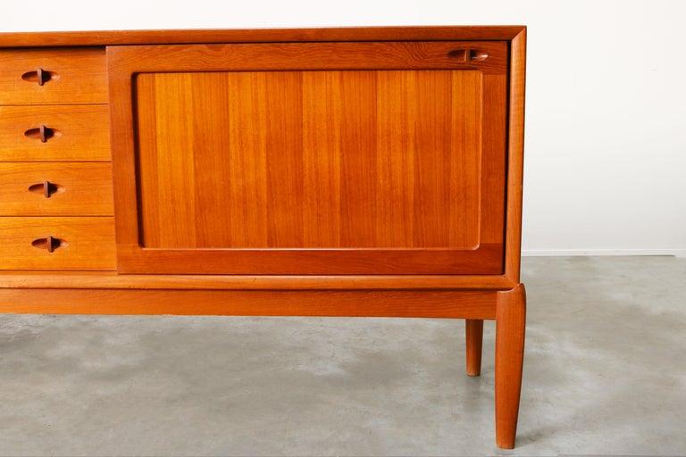 Danish Design Sideboard / Credenza by H.W. Klein for Bramin Teak Brown, 1950s For Sale 3