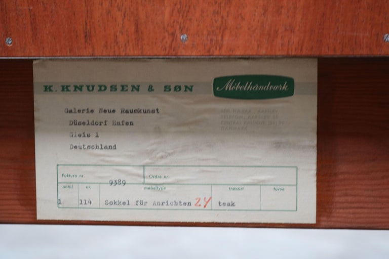 Danish Design Sideboard / Credenza by Svend Aage Madsen for K. Knudsen & Son For Sale 11