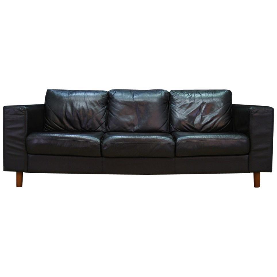Dänisches Design Sofa Aus Leder Vintage, 1960 1970 1