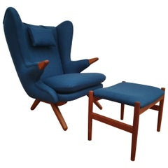 "Danish Design, Svend Skipper ""Teddy Bear"" Chair, Completely Renovated"