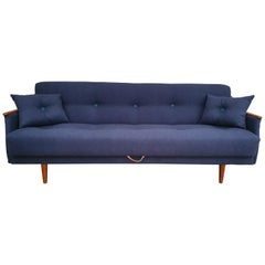 Danish Designed, 3 Persons Sofa Bed, 1960s, Completely Restored