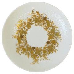 Danish Designer Bjorn Wiinblad White & Gold Jewelry Dish Rosenthal Studio-Line