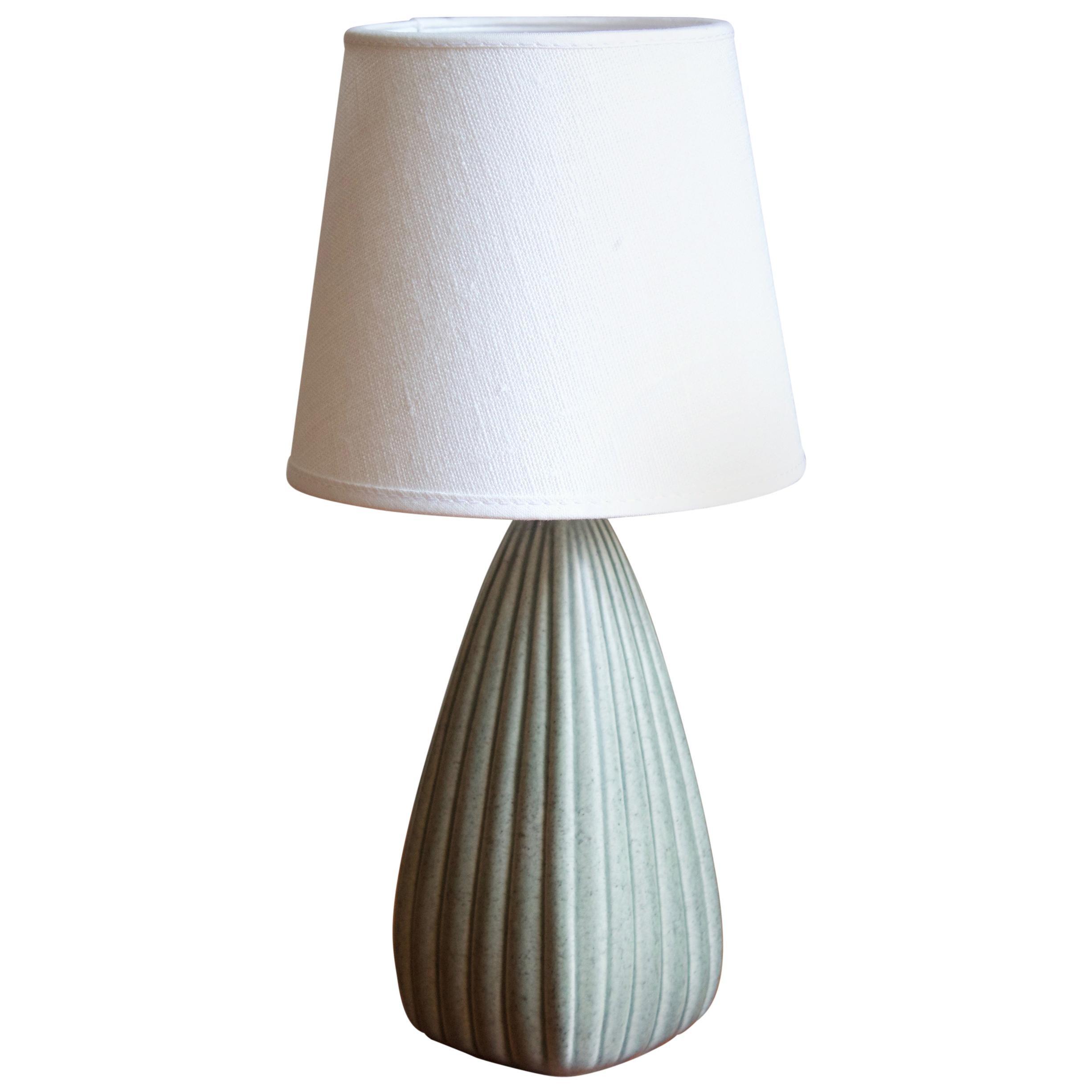 Danish Designer, Small Table Lamp, Glazed Ceramic, Denmark, c. 1960s