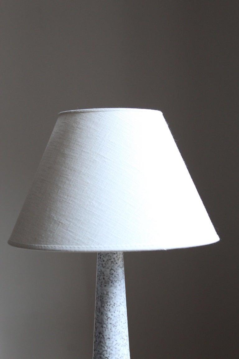 Mid-Century Modern Danish Designer, Table Lamp, Glazed Stoneware, Denmark, 1960s For Sale