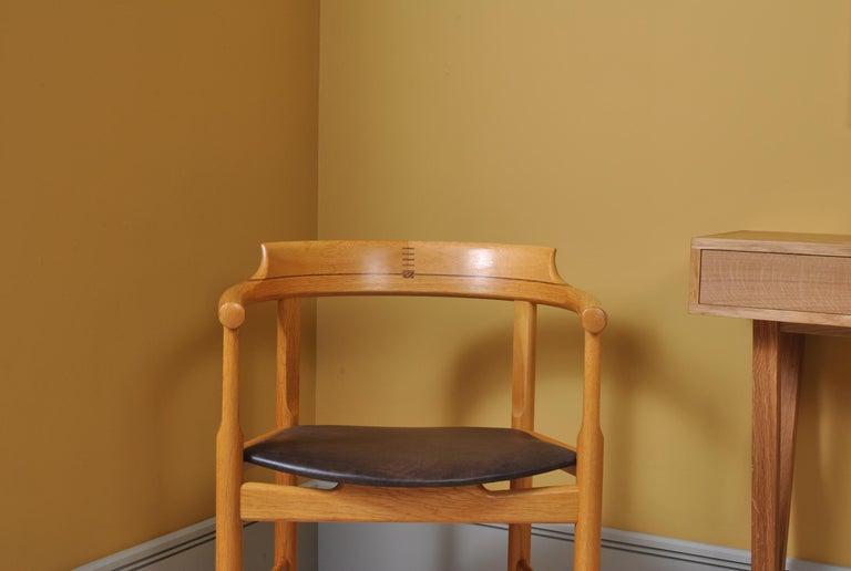 Mid-Century Modern Danish Desk Chair, Hans J Wegner For Sale