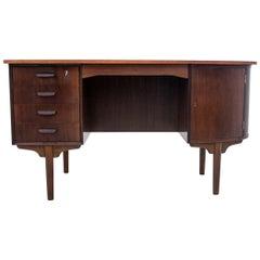 Danish Desk with Cabinet, 1960s