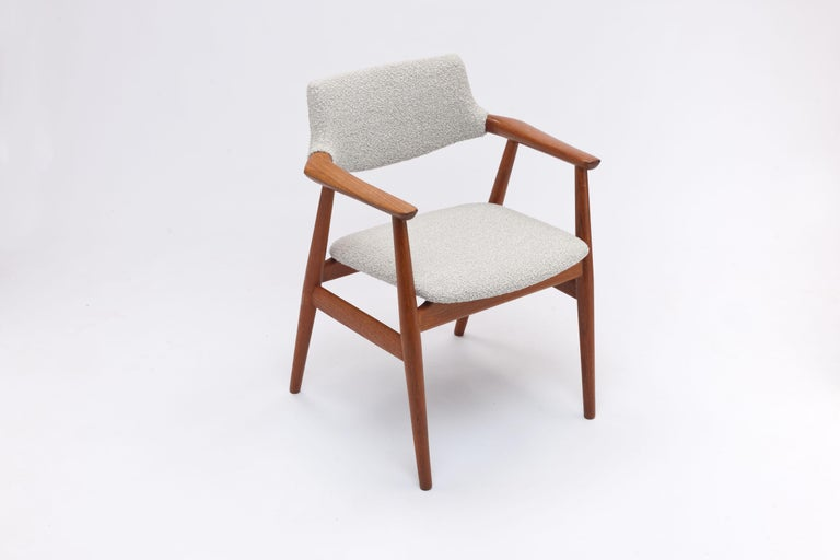 Set of 4 teak armchairs by Danish designer Svend Åge Eriksen designed in 1962 for Glostrup Møbelfabrik, Denmark.