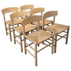 Danish Dining Chairs in Beech J 39 from Designer Børge Mogensen