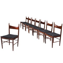 Danish Dining Chairs in Rosewood, 1950s