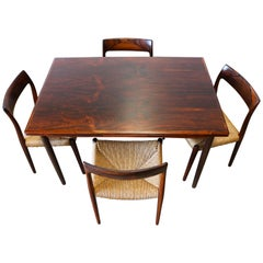Danish Dining Room Set by Niels Otto Moller in Rosewood Model 77 Chairs, 1950s