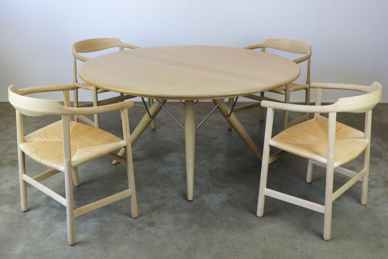 Danish Dining Set by Hans J Wegner for PP Mobler Model PP75 and PP205 Oak 1980s For Sale 6
