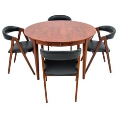 Danish Dining Set with 4 Chairs, Danish Design, 1960s