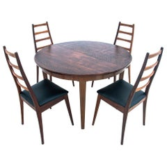 Danish Dining Set with 4 Chairs, Danish Design, 1960s