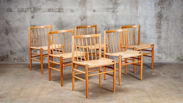 Mid-20th Century Danish Dining Table and Chairs For Sale