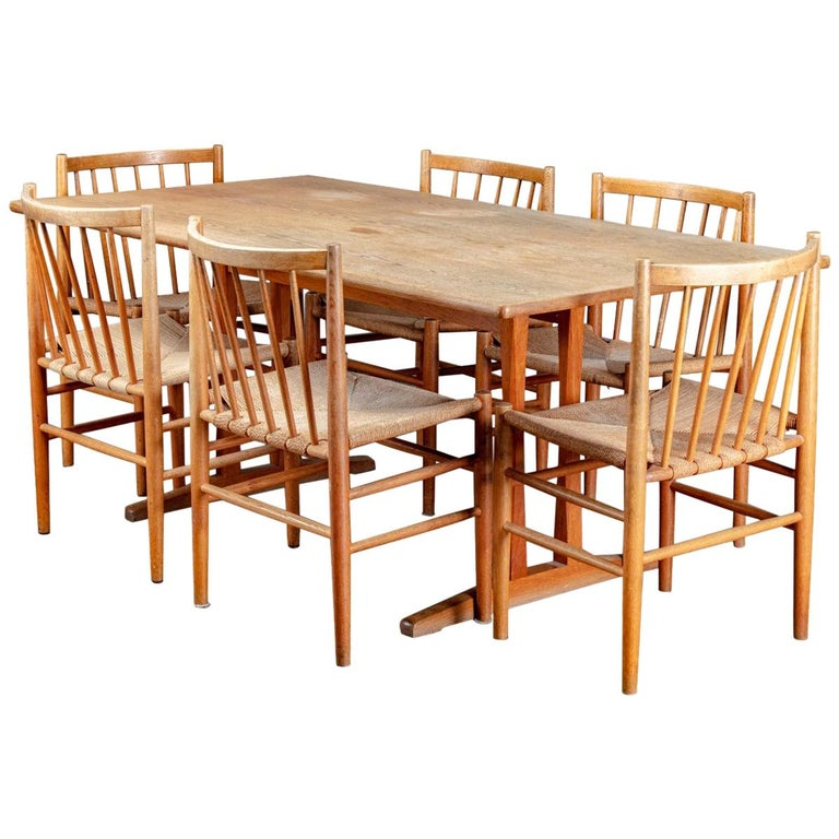 Danish Dining Table and Chairs For Sale