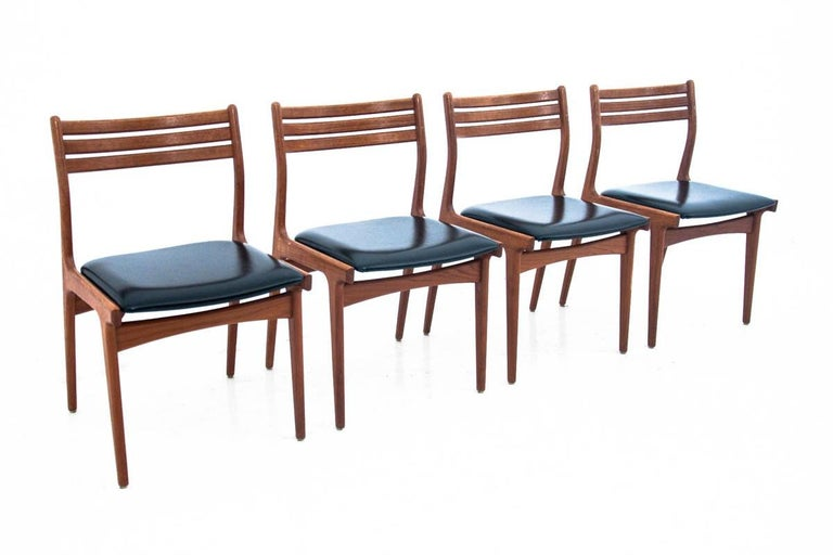 Mid-20th Century Danish Dining Table and Chairs Set, 1960s, Set of 5