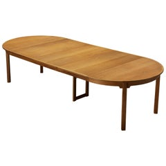 Danish Dining Table in Oak with Three Extension Leaves