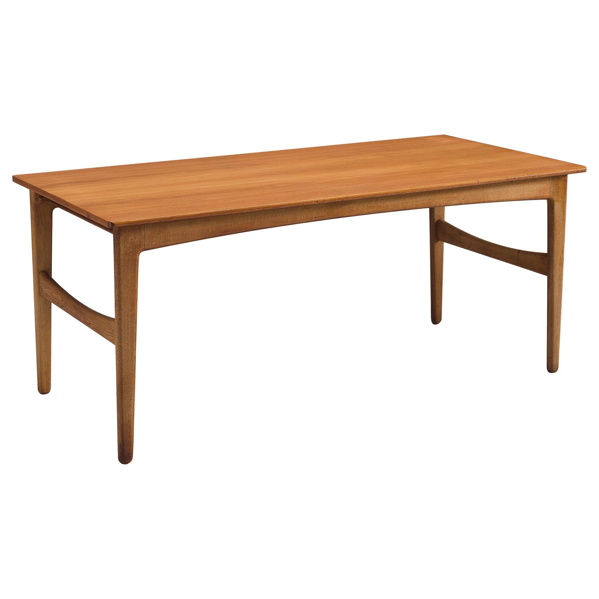 Danish Dining Table in Teak and Oak